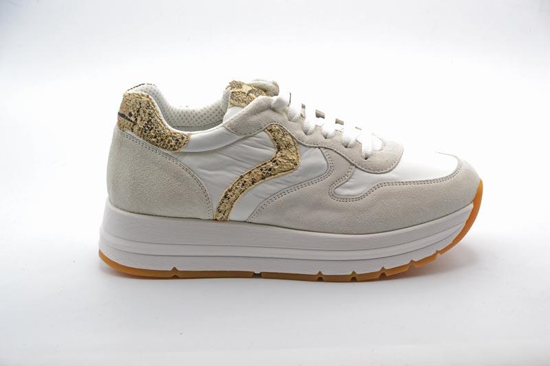NOVITA' P/E 2021 Voile-Blanche Sneakers Donna Maran Suede/Pad/Nylon 0012015746.040N01