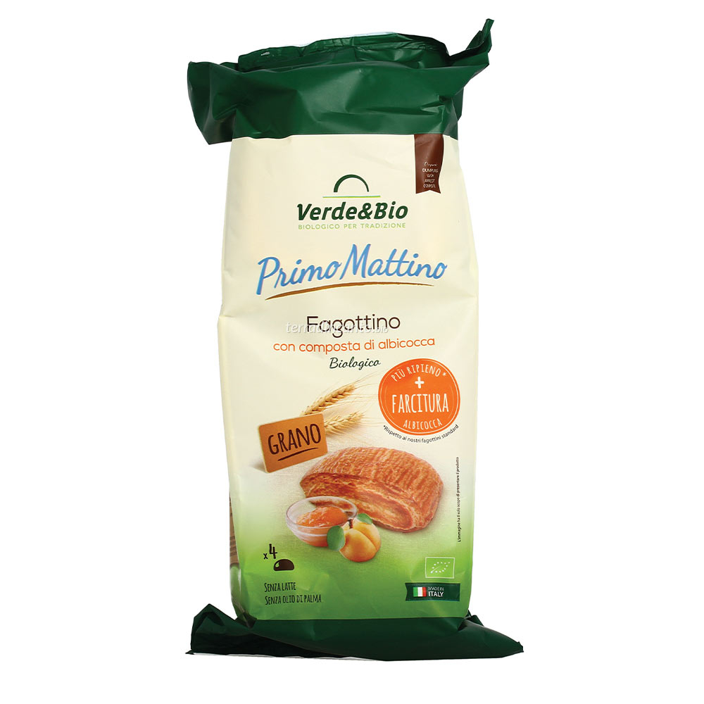 Fagottino Vegan all'albicocca Verdebio 220 gr