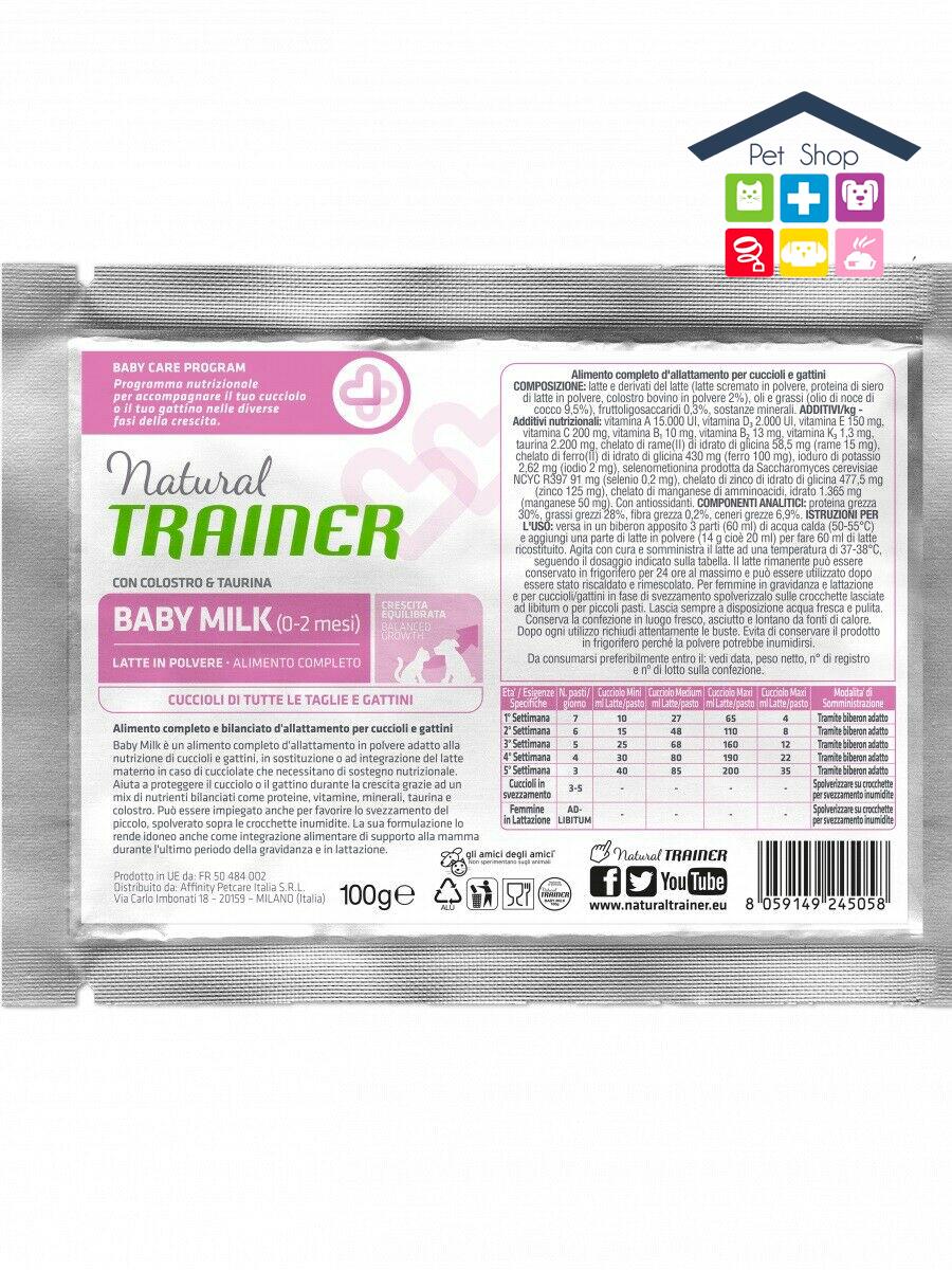 NATURAL TRAINER   LINEA BABY ? Natural Baby Milk per cuccioli e gattini / 100gr