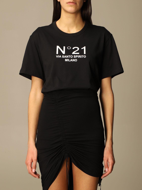 T-shirt N°21 nera via santo spirito