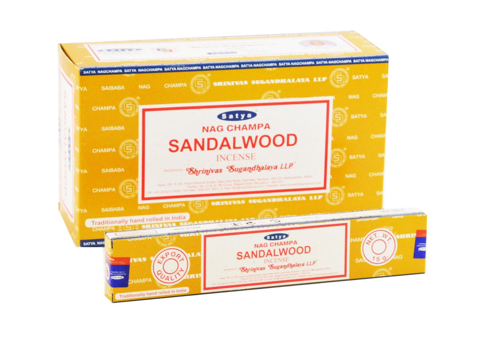 PB005204-124-104 INCENSO NATURALE SATYA SANDALWOOD BOX DA 12X15GR