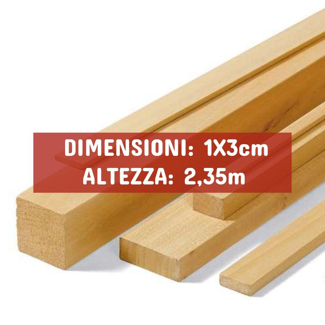 Listello Ayous Piallato - DIMENSIONI: 1X3cm - Altezza: 2,35mt