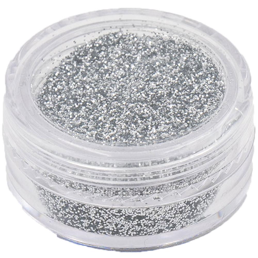 Polvere Glitter Argento per Nail Art
