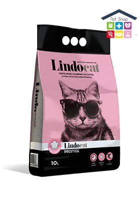 LindoCat | PRESTIGE - Lettiera agglomerante per Gatti - Profumo Talco / 10 L