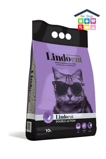 LindoCat | DOUBLE ACTION - Lettiera agglomerante per Gatti - Profumo Lavanda e Argan / 10 L