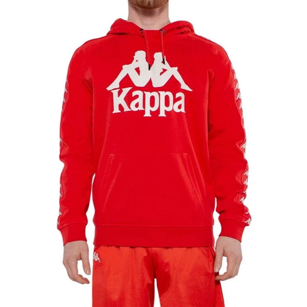 Felpa Kappa Banda Hurtados Rossa da Uomo