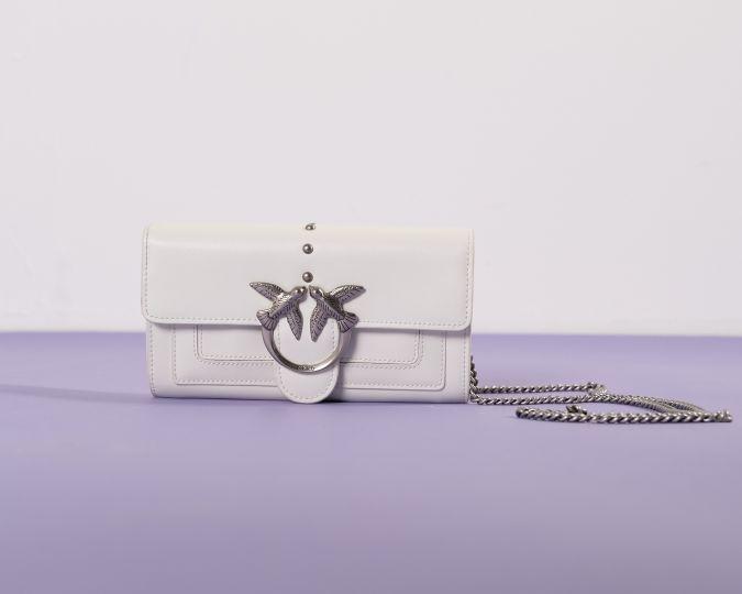 Love Wallet Simply Bianco Pinko SS21