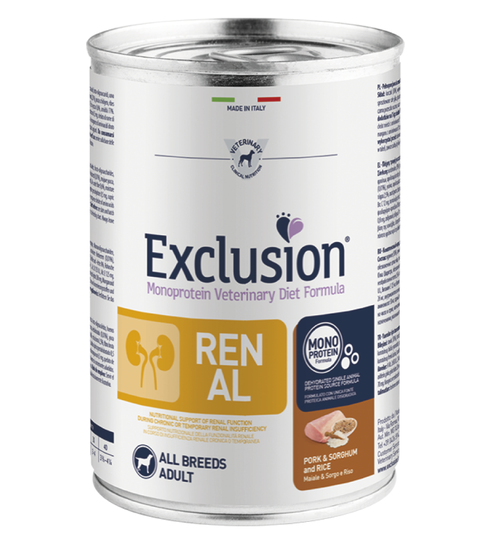 Exclusion - Veterinary Diet Canine - Renal - 400g x 6 lattine