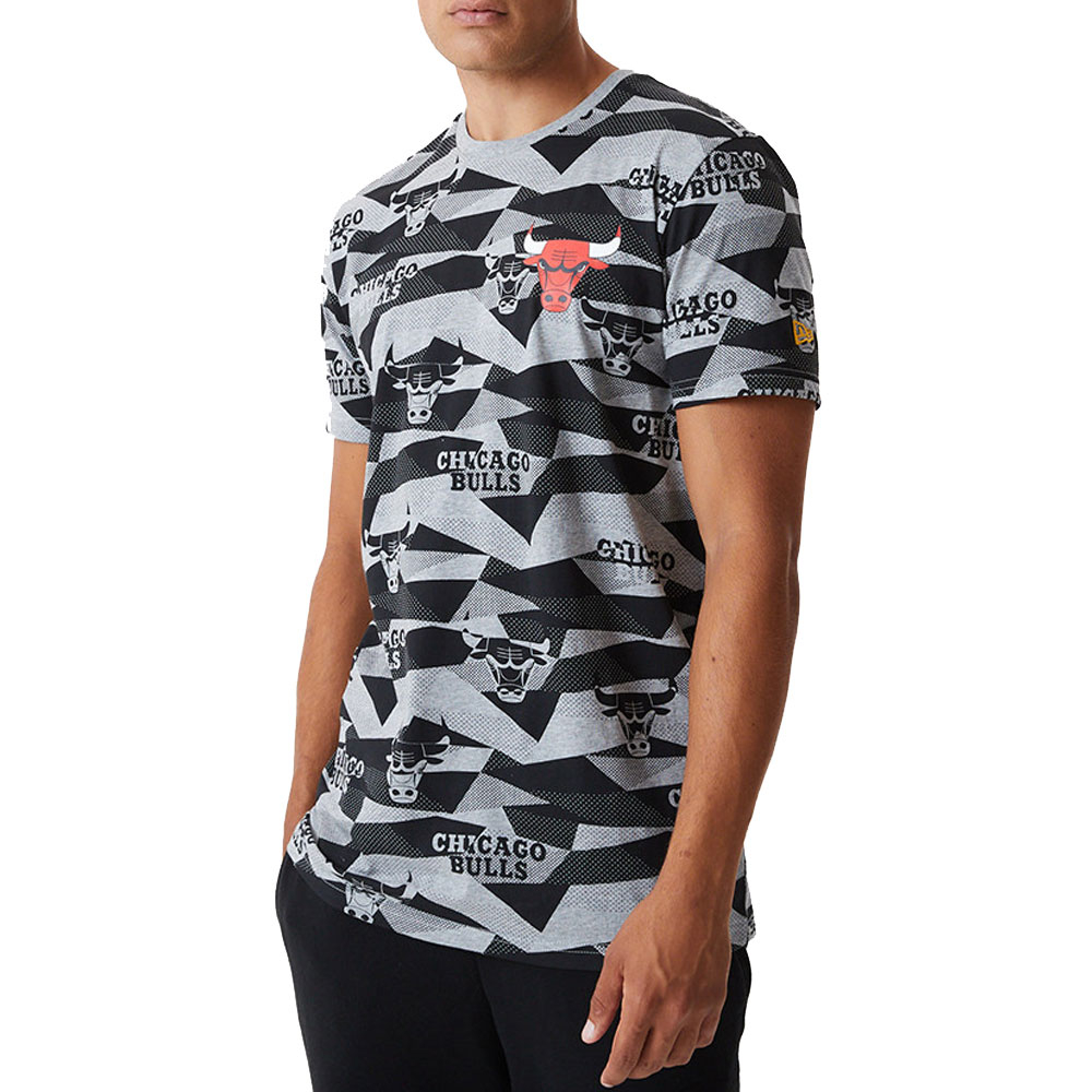 New Era T Shirt Multicolor Chicago Bulls da Uomo