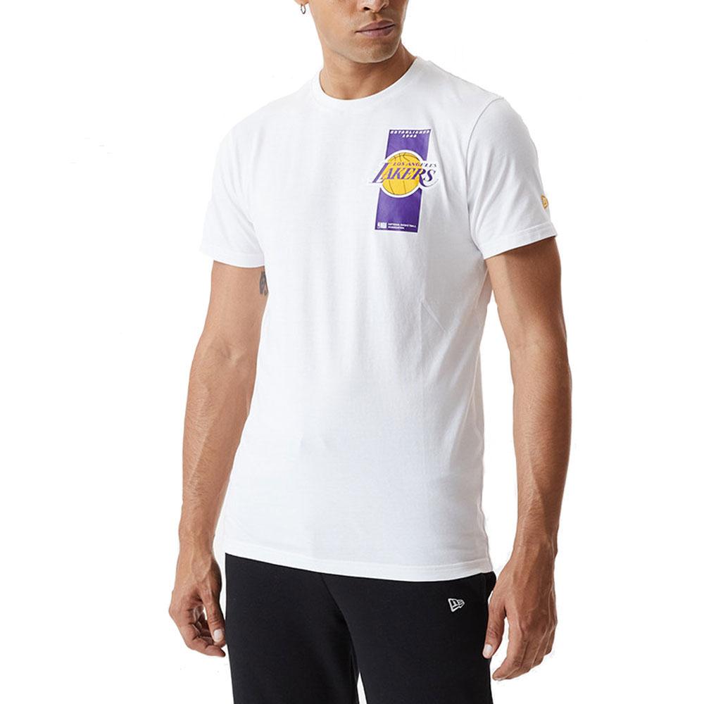 New Era T-Shirt Lakers Bianca da Uomo