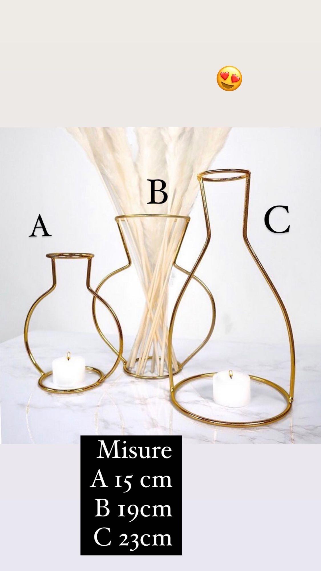 Vasi decorativi minimal golden