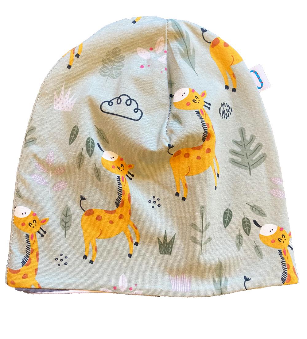 Giraffe - cuffia double face in cotone