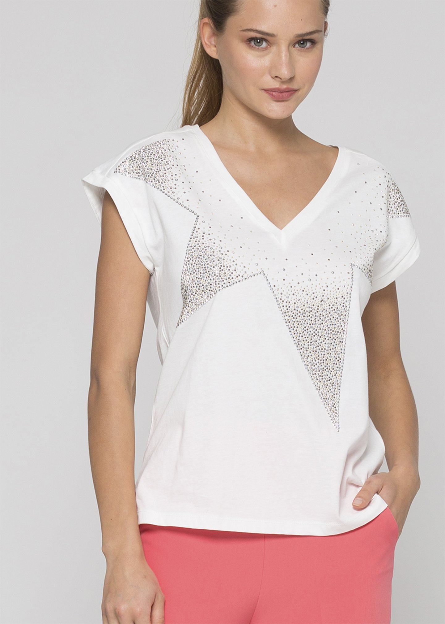 KOCCA BOBO T-shirt girocollo con manica scesa
