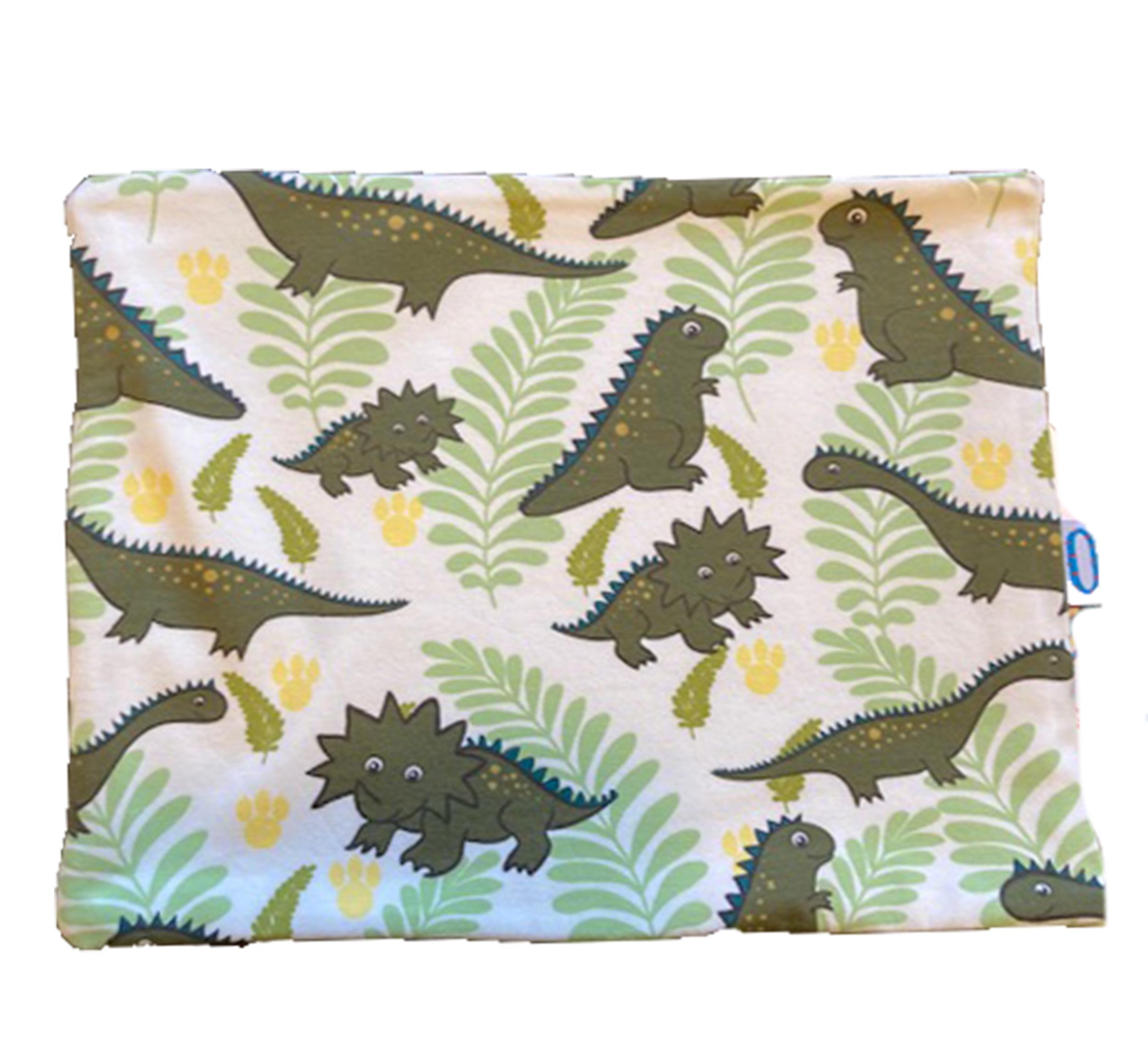 Dinosauri verdi paracollo doppio in cotone
