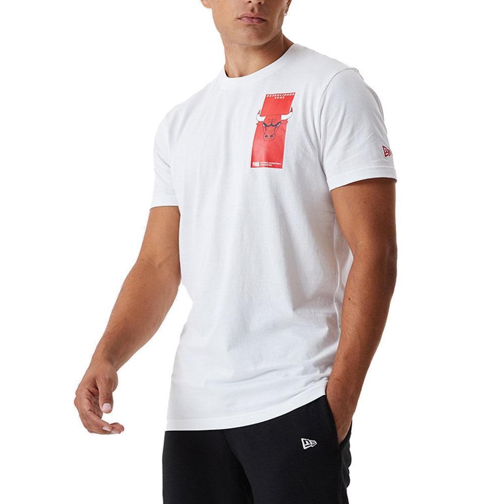New Era T-Shirt Chicago Bulls Bianca da Uomo