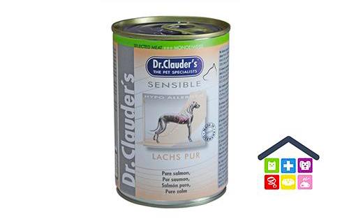 Dr. Clauder's | Umido Cane - Linea Sensible (Sensitive) | Salmone / Scatoletta 375gr