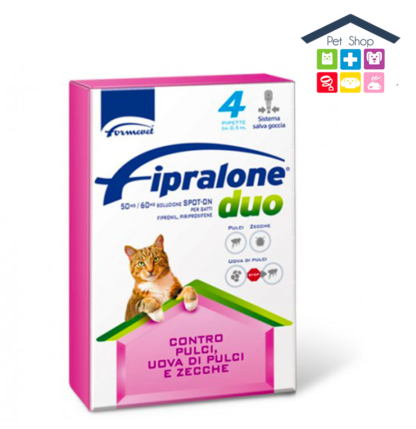 Formevet | GATTO | FIPRALONE DUO - SPOT ON / 50-60 mg (Pipette)