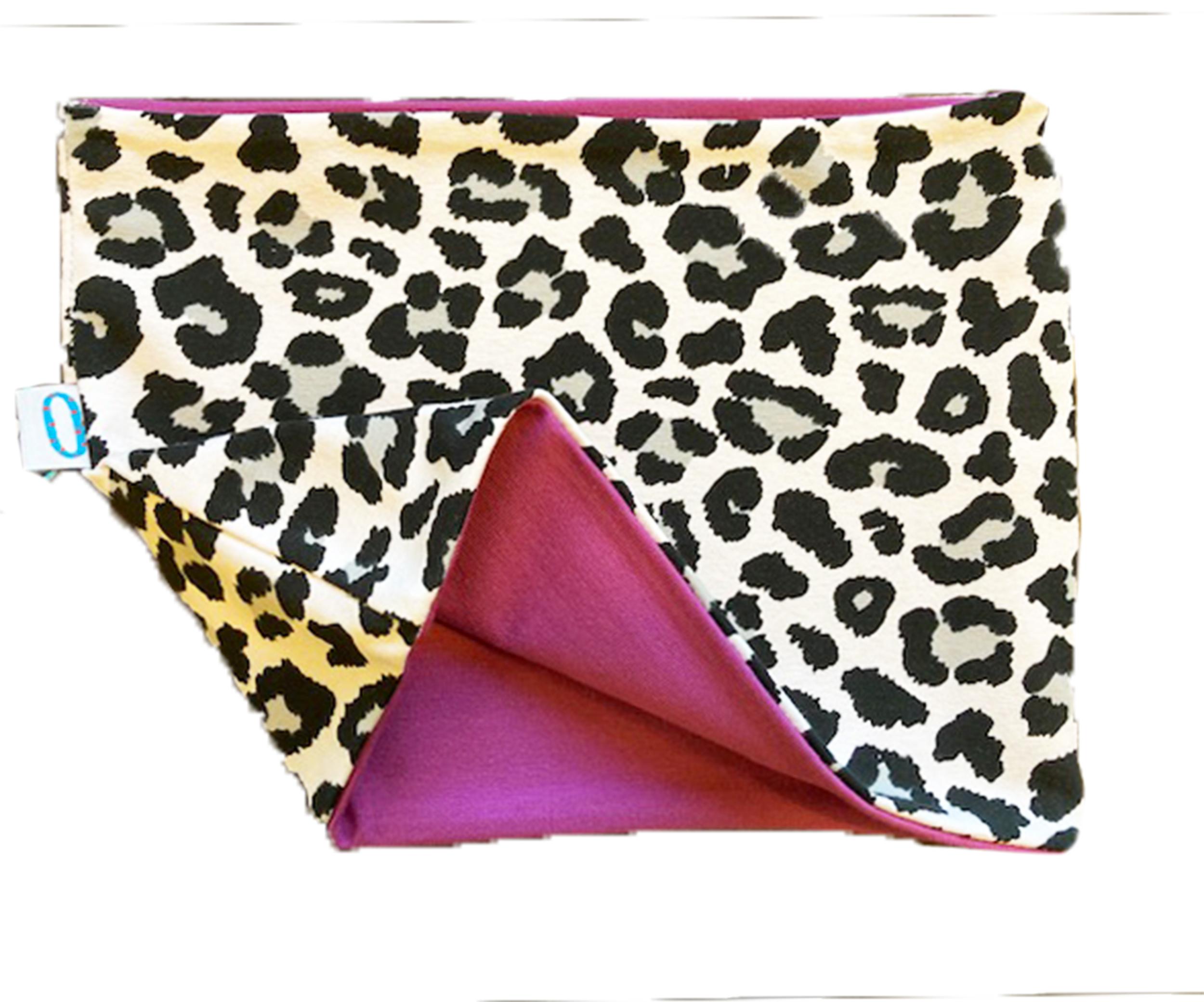 Leopardo viola - paracollo doppio in cotone