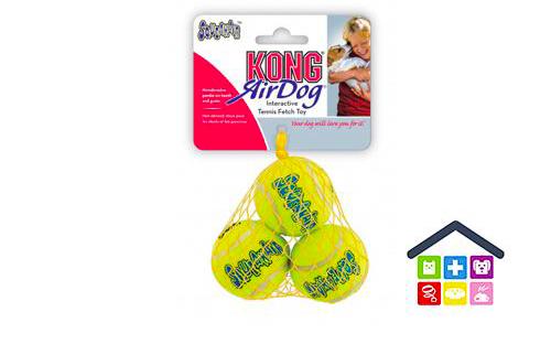 KONG | SqueakAir - Air Dog | Palline da Tennis | Taglia Piccola (x3)