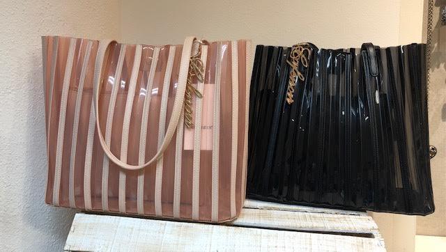 SHOPPING BAG CAFE' NOIR IN PVC