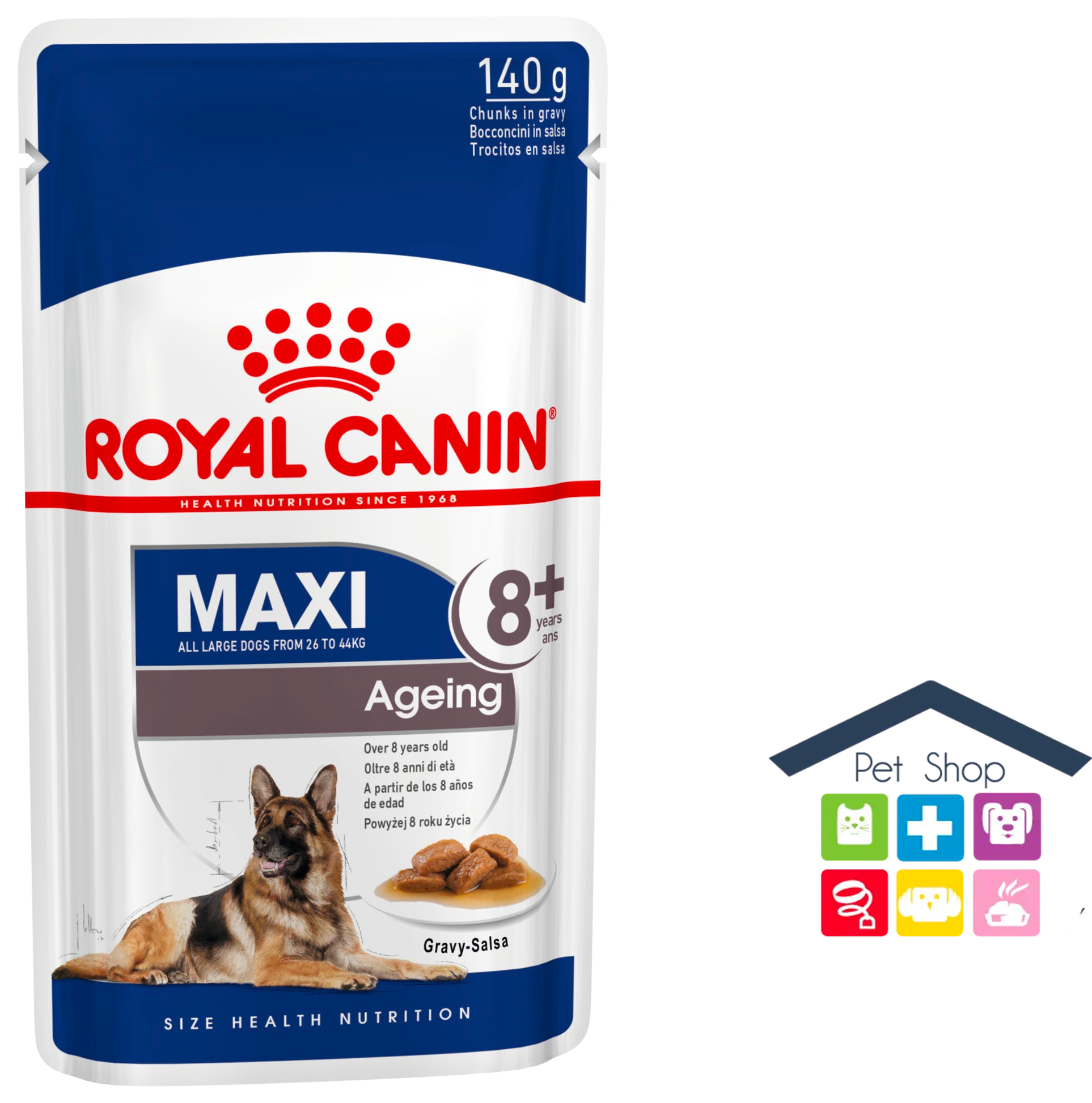 Royal Canin Cane | Linea Size HN | MAXI Adult Ageing8+ / 140g Bustina