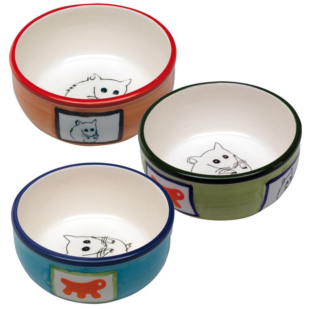 Ciotola PA 1088 Ciotola per criceti in ceramica decorata