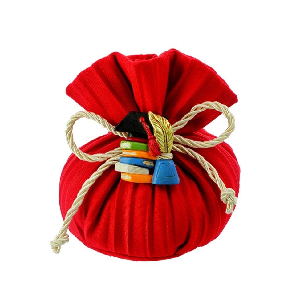Sacchettino a busta base tonda rosso Laurea