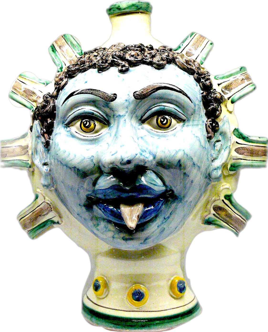 Bacco con Lingua Ceramiche di Caltagirone