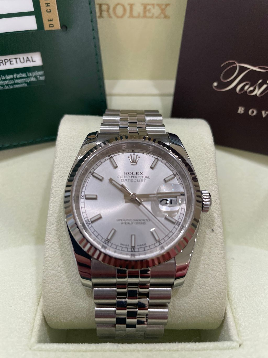 Rolex Datejust 36 mm Silver dial 116234