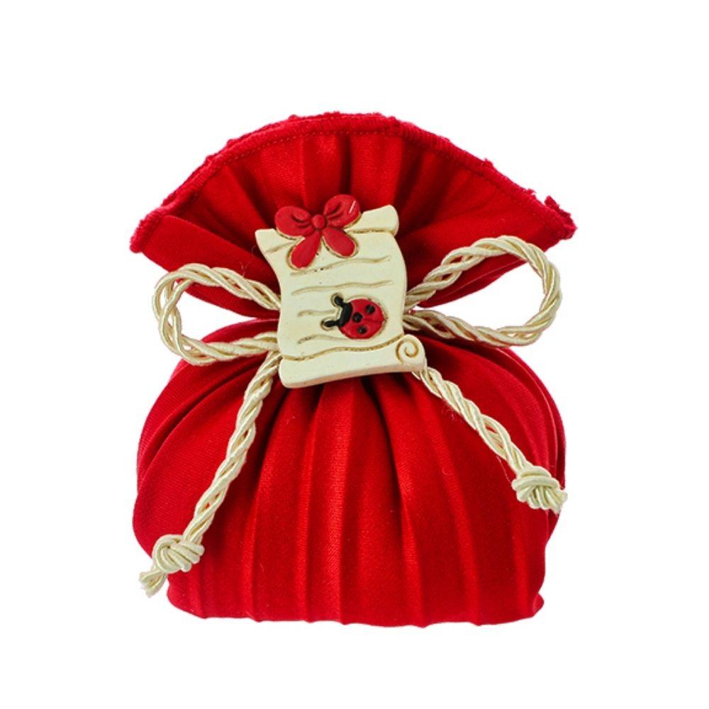 Sacchettino a busta plissè rosso Laurea