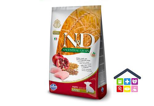 Farmina N&D ANCESTRAL GRAIN CANINE | Gusto Pollo e Melograno PUPPY - Taglia Mini - 2.5Kg