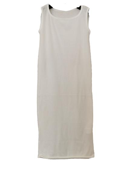 Canotta donna | in cotone bianco | lunga sopra al ginocchio |spalla larga | girocollo | Made in Italy