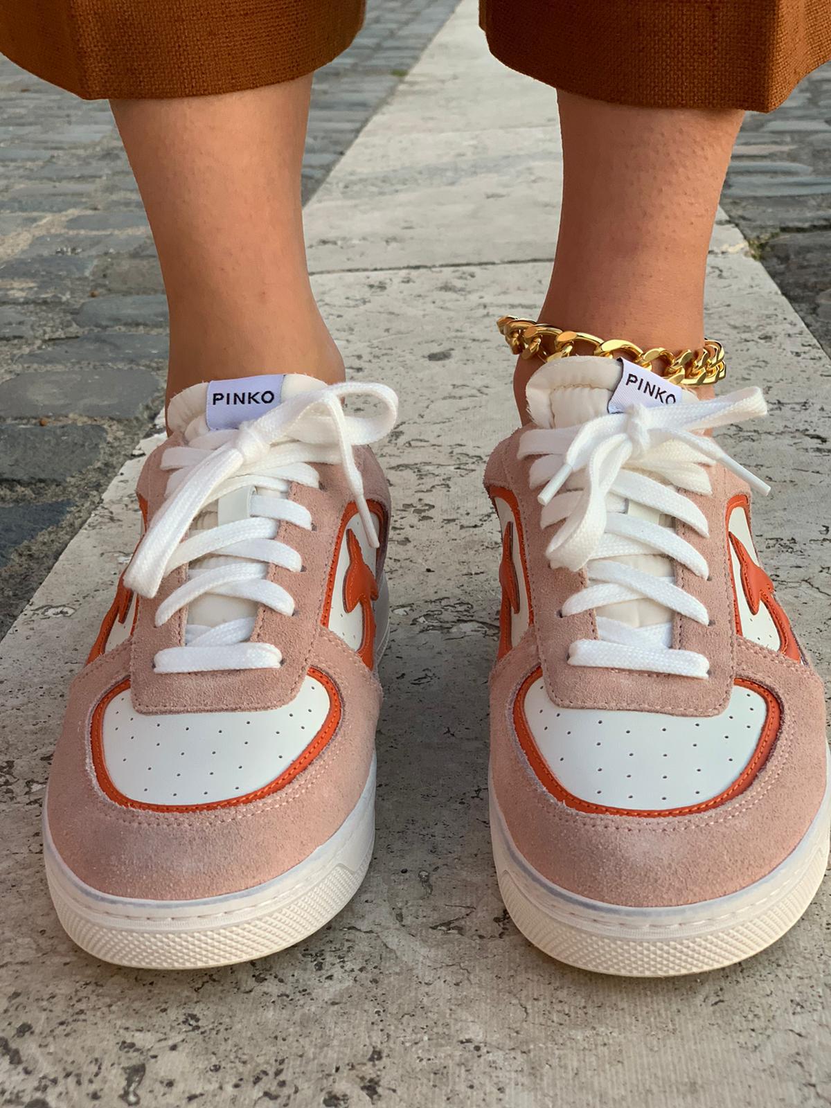Sneaker Liquirizia low top 3 in pelle Pinko
