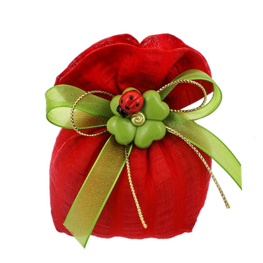 Sacchetto bustone tessuto righe rosso Laurea