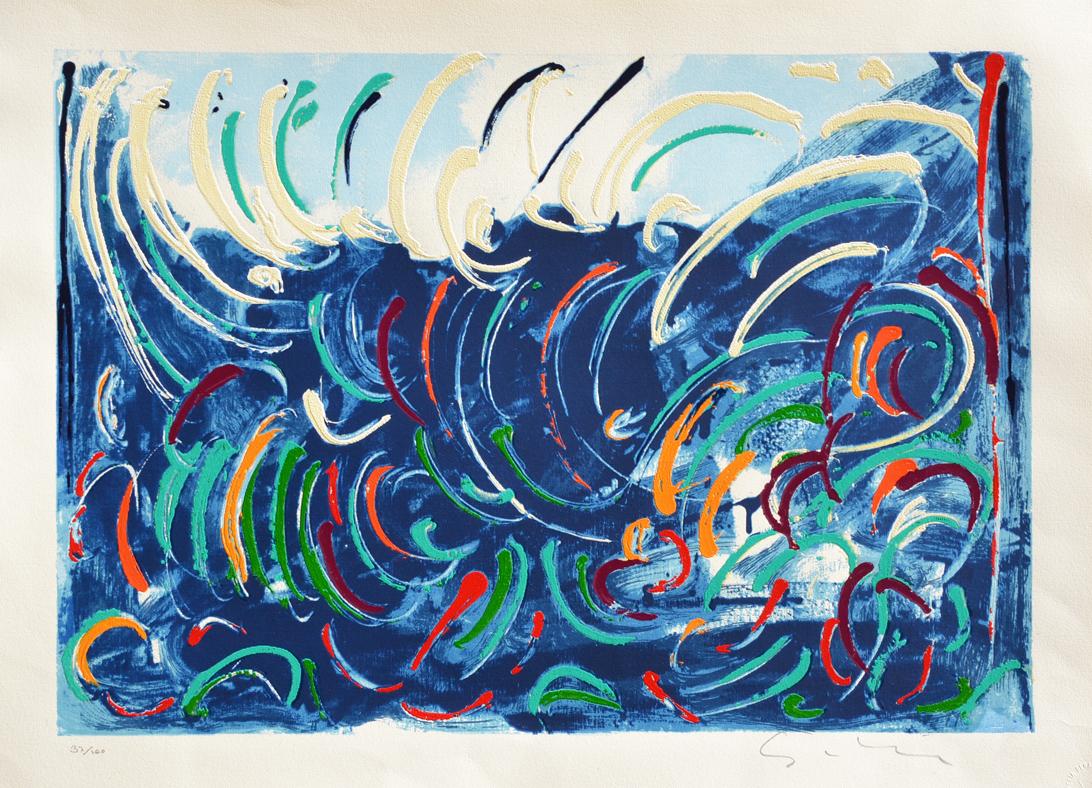 Schifano Mario Serigrafia polimaterica Formato cm 54x73