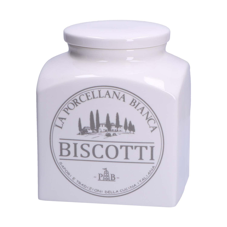 Porcellana Bianca -  BISCOTTIERA PORCELLANA