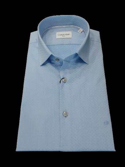Camicia uomo colore Azzurro vestibilità slim fit | marca Calvin Klein
