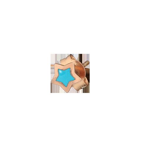Mono orecchino Stella smaltata