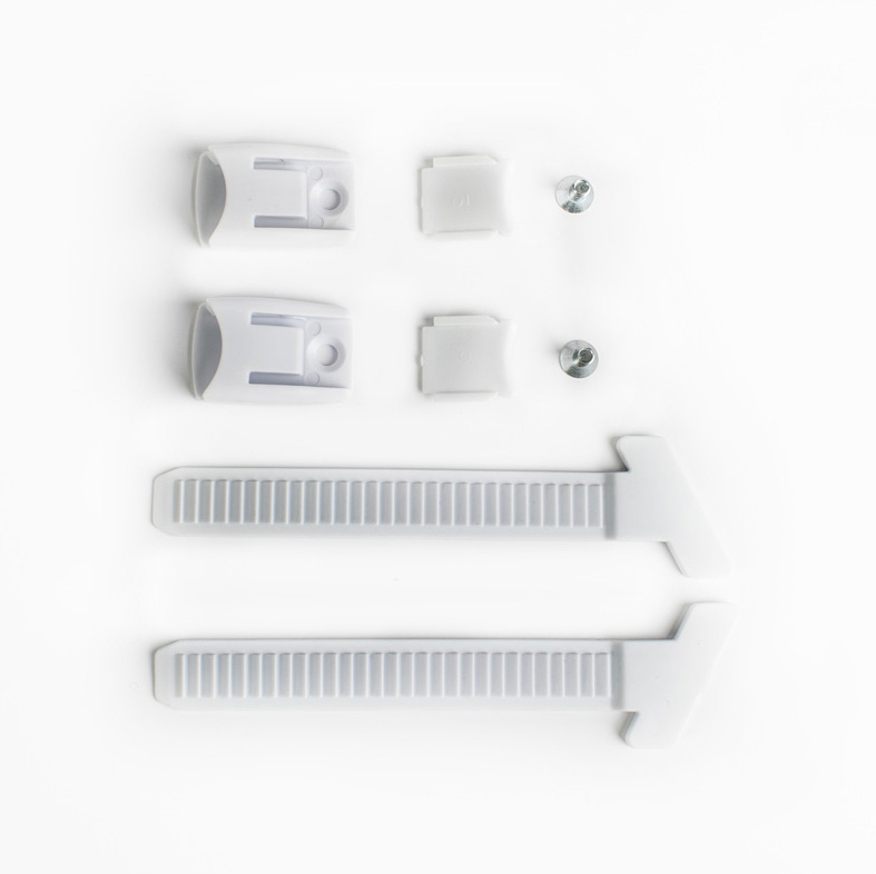 Kit external toothed band white + button + screws ​​​​​​
