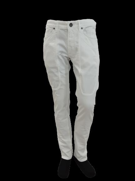 Jeans in Cotone Piquet colore Bianco   marca JECKERSON