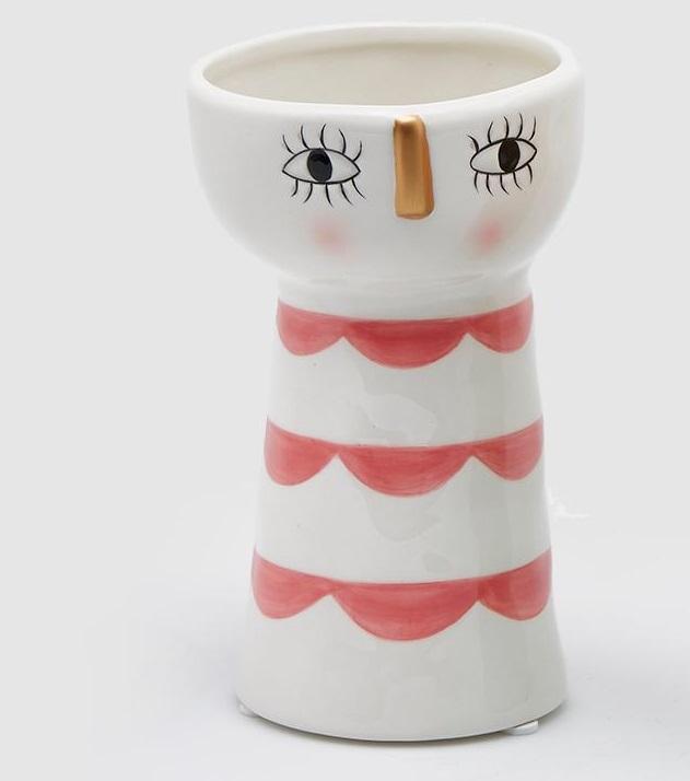 Vaso Michy ceramica grafica rossa
