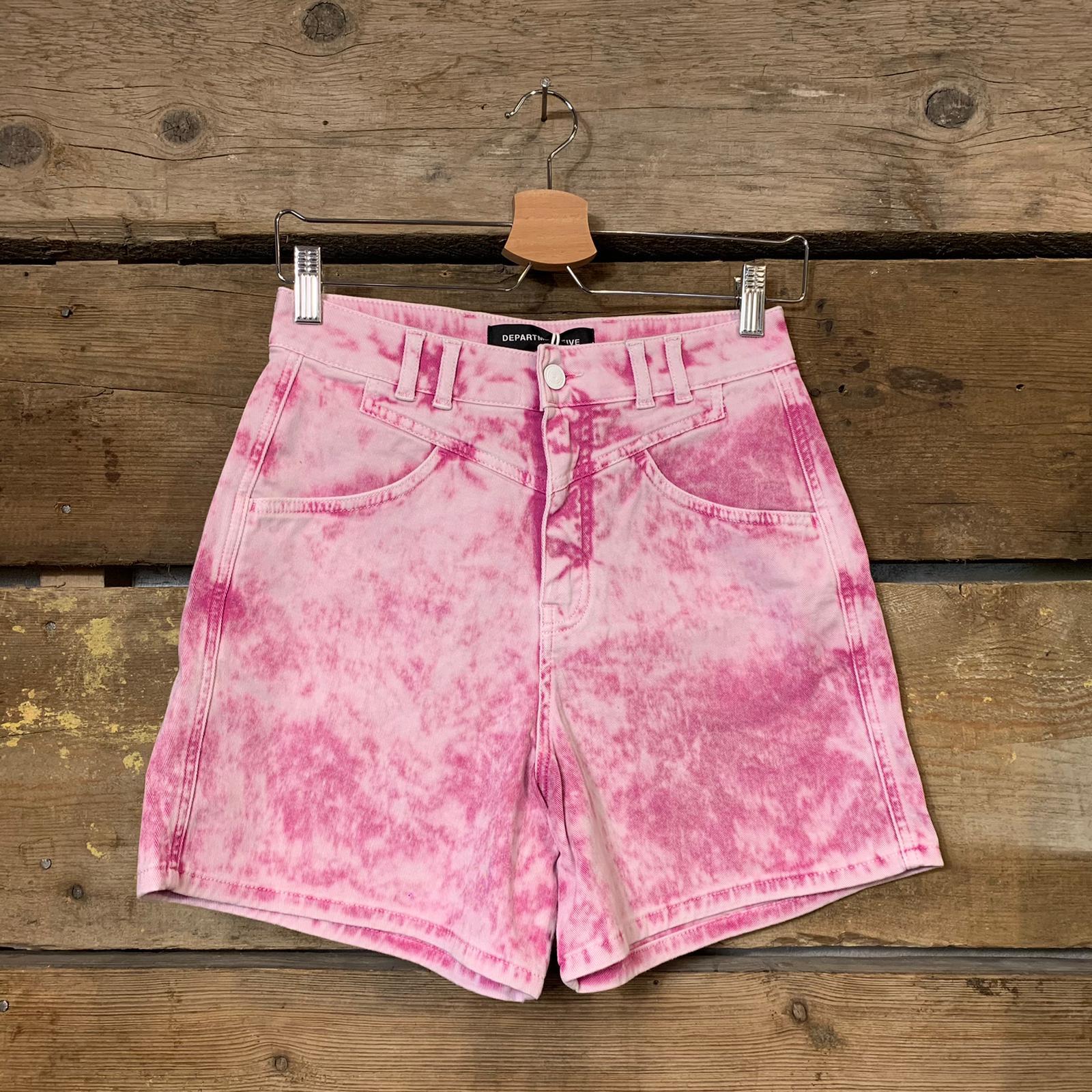 Bermuda Department 5 Donna Manik Shorts Jeans Con Pences E Baschina Big Bubble