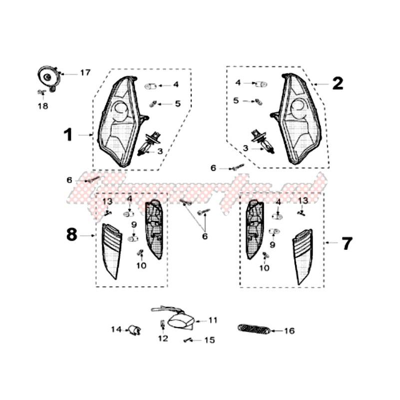 Stop DX Peugeot Satelis 125/250/400/500