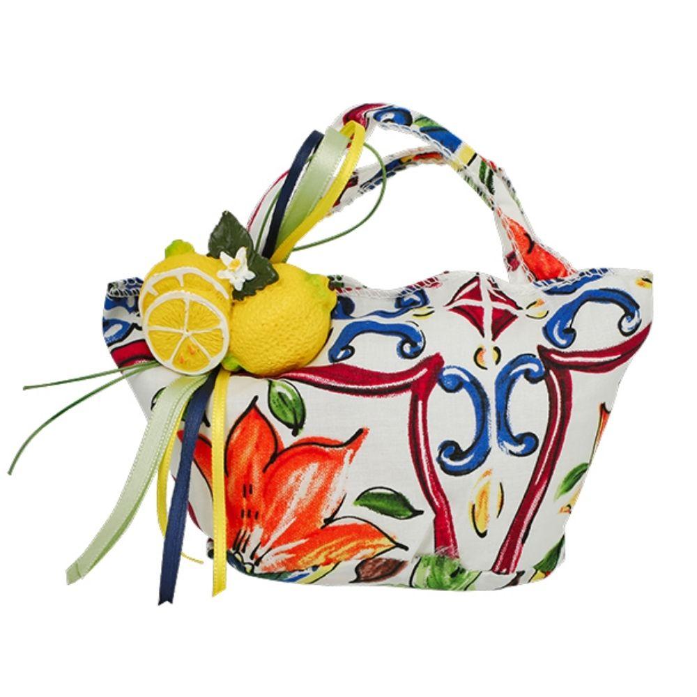 Sacchetto a borsetta fantasia maiolica