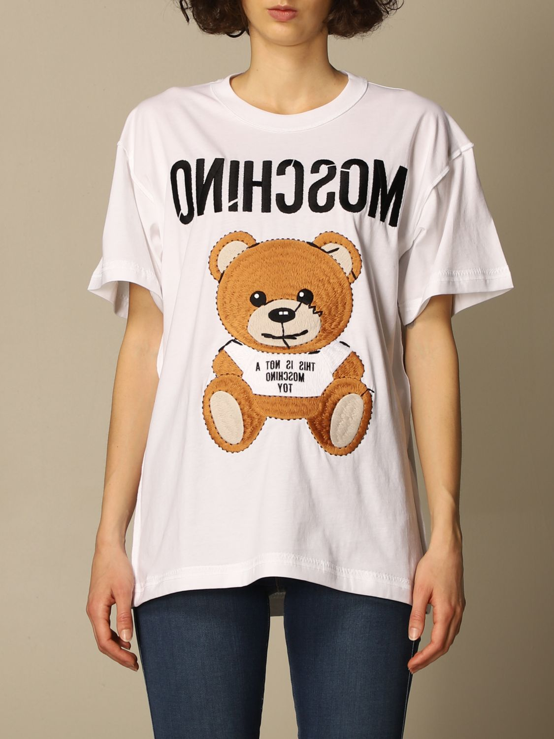 T-shirt bianca moschino couture
