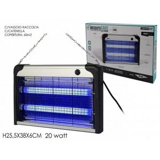 Mosquito Cage Elettrico Dispositivo Elettrico Per Proteggerti Da Mosche e Zanzare 20 Watt Con Vassoio Raccolta