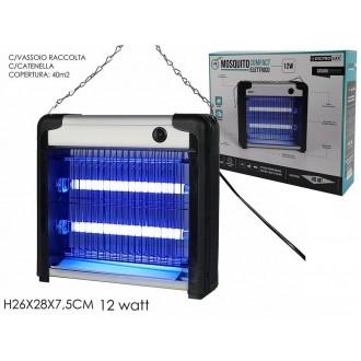 Mosquito Compact Elettrico Dispositivo Per Tenere Lontano Zanzare e Mosche Estive 12 Watt Con Vassoio Raccolta Estate