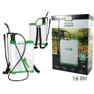 Pompa A Spalla Capacità Massima 16 Litri A Pressione Pratica Maneggevole Per Annaffiare Piante e Altro Casa Giardino