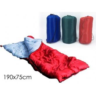 Sacco a Pelo Per Campeggio Estivo Vari Colori Assortiti Riavvolgibile Pratico 190x75cm Da Esterno Impermeabile