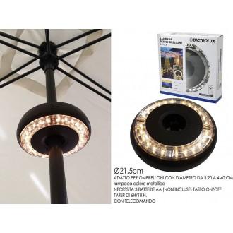 Lampada Per Ombrellone Con 24 Led Colore Caldo Con Telecomando Per Esterno Giardino Casa
